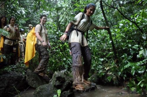 Hiking the jungle in the Yucatan Peninsula. Mexico, 2010. Ruta Quetzal.